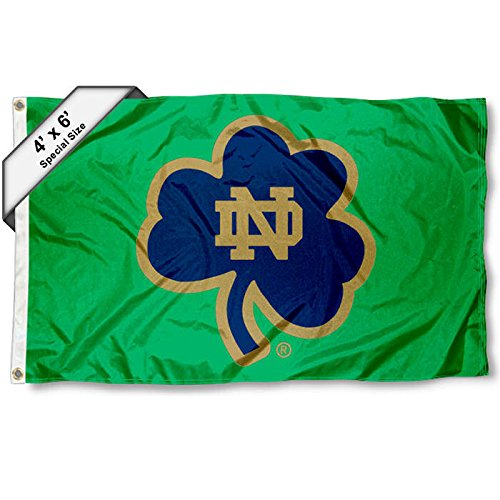 College Flags and Banners Co. Notre Dame-Universität 4 'x6' Shamrock Flagge