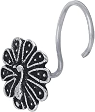 Abhooshan Designer and Trendy look Peacock Silver Alloy Nose pin for Women and Girls. Piercing required