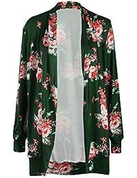1294944b9527 Cardigan Damen Elegant Vintage Langarm Blumen Drucken Jacke Frühling Mode  Casual Loose Jungen Schöne Langarmshirt Mantel