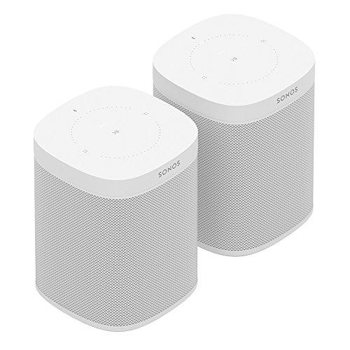 Sonos One Smart Speaker 2-Raum Set, weiß - Intelligente WLAN Lautsprecher mit Alexa Sprachsteuerung & AirPlay - Zwei Multiroom Speaker für unbegrenztes Musikstreaming (Home-lautsprecher-set)