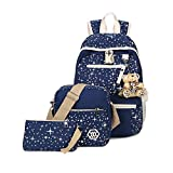 Umily Tela Zaino Scuola Casual Zainetto Ragazza/Donna Backpack Canvas