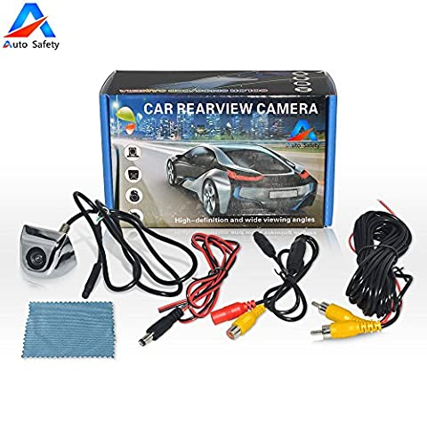 Auto Safety® Waterproof Reverse Parking Camera Night Vision Car Rear View with 170° Viewing Angle Adjustable Cam For All Car