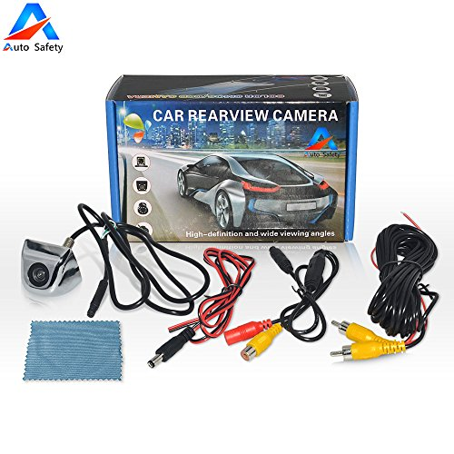 Auto Safety Coche Universal de Visión Trasera Cámara CCD Chip para Todos Los Modelos de Coches Vision nocturna Impermeable (Plata)