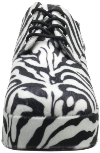 Pleaser Jazz02/Zb/Fur, Scarpe Brogue Uomo Multicolor (White-Black)