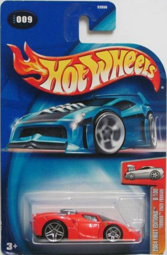 Hot Wheels 2004 First Editions 'Tooned Enzo Ferrari 9/100 RED 009 by Hot Wheels