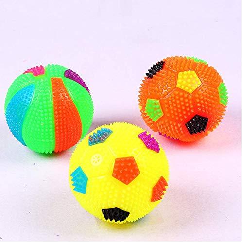 Softballhaustierhallenfußballbasketball-Lichtspielzeug des Haustierhundespielzeugs festes Glühende Kugel