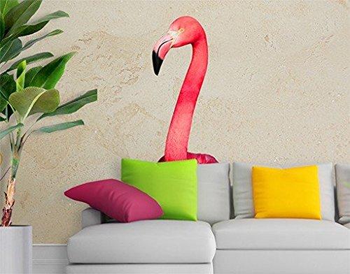 Adesivo murale no.YK22 Prying Flamingo, tatuaggio per parete, tatuaggi da parete, adesivo per pareti, sticker murale,