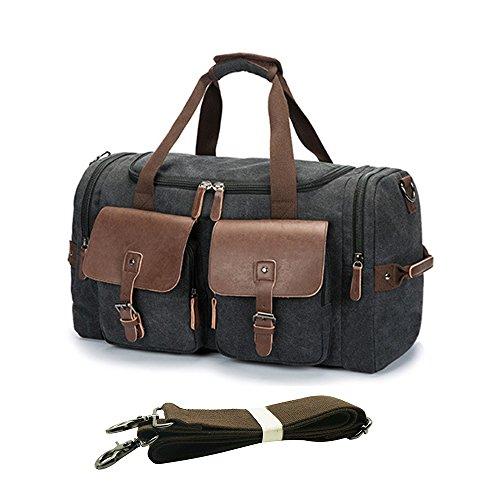 d7f2551a3e2fc LETEULO Canvas Sports Duffel Bag Wochenende über Nacht Reisetasche Unisex  Handtasche Tote Gepäck in Osterholz-