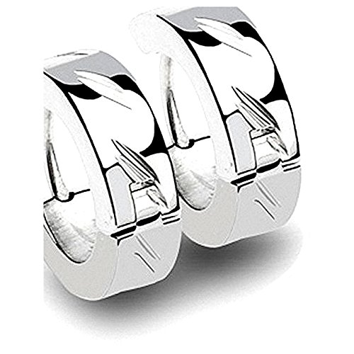 Kultpiercing 1 Paar Ohrringe Edelstahl Creolen Silver Magix super Edel