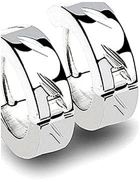 1 Paar Ohrringe Edelstahl Creolen Silver Magix super Edel