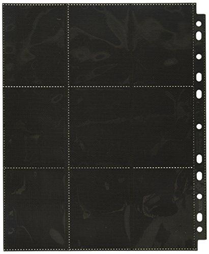Ultimate Guard UGD010482 - 18-Pocket Pages Side-Loading, schwarz (50) -
