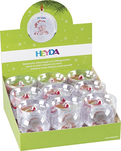 Heyda 20 - 48 884 08 Specific Christmas Ornament Acryl Transparent 9Stück - Christbaumschmuck (Specific Christmas Ornament, Acryl, transparent, Picture Frames, 9 Stück (S), Box) - Acryl Transparent Frame
