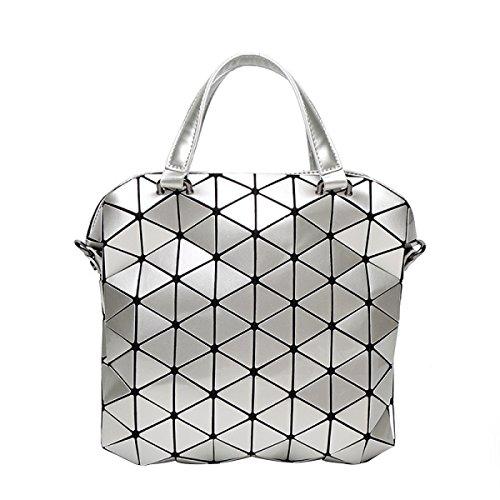Ladies Ling Grid Handtasche Falttasche Tasche Umhängetasche F