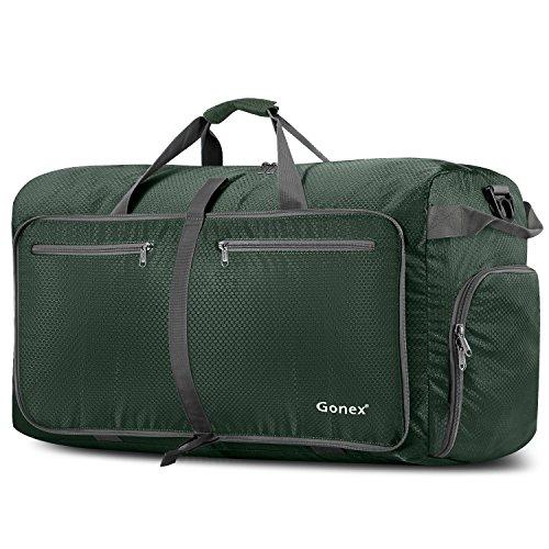 Gonex Sac de Voyage 100L Sac de Sport Pliable Sac Imperméable Pliant Pour camping Randonnée Voyage