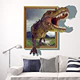 JUNMAONO Dinosaurier Wandaufkleber/Jurassic Wandgemälde/Kreativ Wand Poster/Wandbild Aufkleber/Wandbilder/Wandtattoo/Pinupbild/Beschriftung/Pad einfügen/Tapete/Tapezieren/Tapeten/Wand Zeitung/Wandmalerei/Haftnotiz/Fühlen Sie sich frei zu kleben/Instant Aufkleber/3D-Stereo-Wandaufkleber