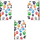 Gr8 value Nokia 630 and 635 Pu Luxury PU Leather Wallet Cover Flip book Phone Mobile case for Nokia Lumia 630 and Nokia 635 book Cover (Multi Paw Book Case)