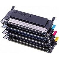 toner-mero - Conjunto de cartuchos de tóner para impresora Samsung (compatible con: CLT-P4092C - CLP-310,CLP310N,CLP315,CLP-315W, CLX3170, CLX-3170FN, CLX-3170FN CLX-3175 N/FN/FW, capacidad: 1 x 2500 páginas, color negro, 3 x 2000 páginas color cian, amarillo y magenta)
