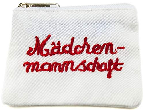 Tampontasche Tamponetui Tampon Beutel Aufbewahrung Tampons Mädchenmannschaft 7 x 7 cm weiß rot Ringelsuse