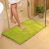 DOTBUY Bad-Teppiche, Chenille Anti-Rutsch-Bequeme Super saugfähiger weicher Duschteppich Dusche Teppich Badematte Bad Teppich (40 * 60cm, Gras-Grün)
