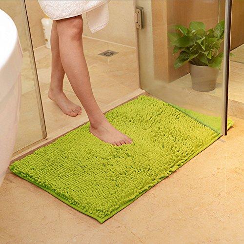DOTBUY Bad-Teppiche, Chenille Anti-Rutsch-Bequeme Super saugfähiger weicher Duschteppich Dusche Teppich Badematte Bad Teppich (60 * 90cm, Gras-Grün) - Badezimmer Gras-teppich