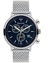 Gigandet Classico Herren Armbanduhr Chronograph Analog Quarz Silber Blau G6-013