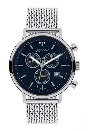 Gigandet G6-013 Armbanduhr, Edelstahl-Armband silberfarben
