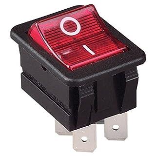 Arcolectric C 1553 VB NAB Rocker Switch Lit Red DPST On-Off 250V AC 16A