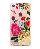 Impressionist Art iPhone 7,iPhone 8 Cover,Hepix Floral Print Plum Blossom with Bird Pattern Printed Clear Design Transparent with TPU Bumper Protective Cover for iPhone 7 (2016)/iPhone 8(2017)