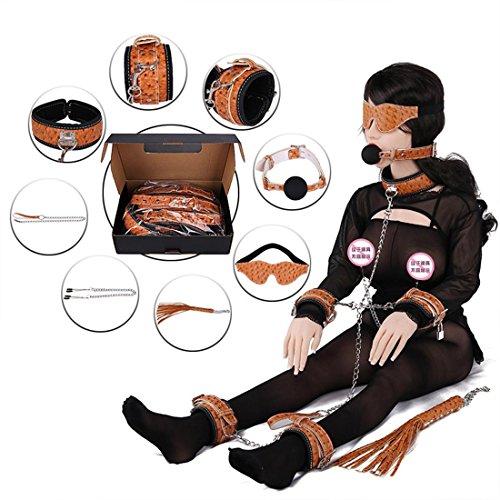 LIUZHI Fun Leder liefert acht Anzug / Melodie die Hände und Füße Kette / Schutzbrille / Metall Kragen / erwachsene gebunden (Catwoman Kostüm Haar)