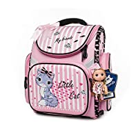 Childrens Backpacks Kids Schoolbag Primary School Book Bag for Girls by Cocomilo (Pink)