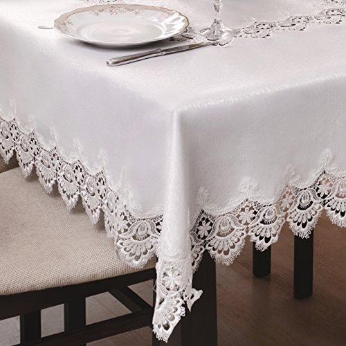 Mantel antimanchas, efecto loto, guipur, elegante...