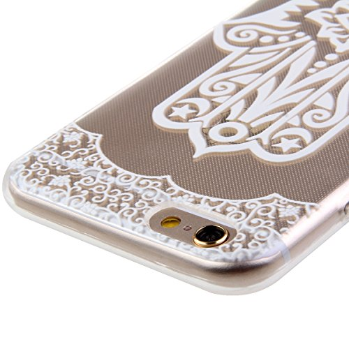 iPhone 6S Hülle, iPhone 6 Hülle, iPhone 6 / 6S Silikon Crystal Case Hülle mit Malerei Muster, SainCat Weiche Transparent Silikon Schutzhülle Hülle Gel Bumper Soft TPU Case Backcase Weiches Crystal Cle Palme