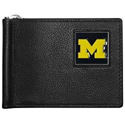 NCAA Michigan Wolverines Leather Bill Clip Wallet