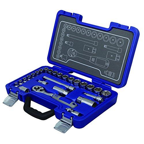 Michelin Steckschlüsselsatz MSS-26-3/8, 26-tlg, 3/8 Zoll - Profiqualität für die heimische Werkstatt - 602010130