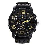 Reloj de pulsera - GT Reloj de pulsera de acero inoxidable de silicona ocasional para hombres de color naranja