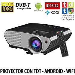 Luximagen SV350NEGRO, Proyector con WIFI, Android, TV TDT, USB, HDMI, VGA, AC3