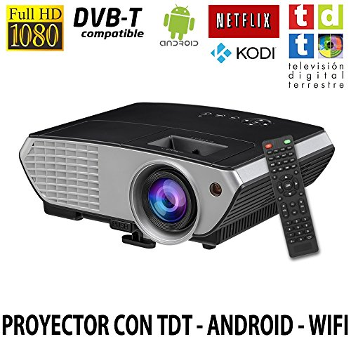 Luximagen SV350 (Negro), Proyector con WiFi, Android, TV TDT, USB, HDMI, VGA, AC3