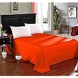 Couvre lit boutis 2 places grande largeur flora orange for Jete de canape 3 places