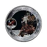 Womdee 2019 New Apollo - Moneda Conmemorativa del 50 Aniversario de la NASA Humans First Landing, colección de Joyas de Monedas, Regalo de Recuerdo, 2 Unidades