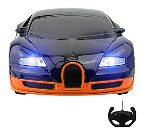 Bugatti Veyron Style RC Remote Radio Controlled Toy Car with Lights - PL9123 Electric Radio Controlled Bugatti Veyron Style RC Car –1:18 Model – Ready to Run, EP