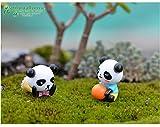 Miniature Fairy Garden ,8 Stück Miniature Garten Ornament Panda Figur Craft Töpfe Garten Dekoration