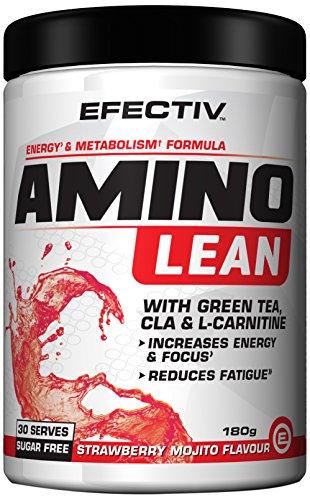 Efectiv Sports Nutrition Amino Lean Shakes, 180 g, Strawberry Margarita