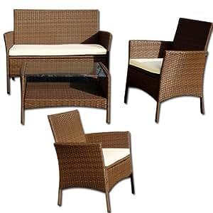 Salotto da giardino sandra set arredo esterno in for Salotto da giardino amazon
