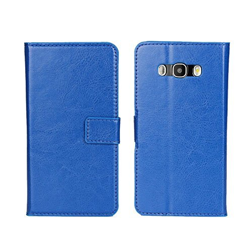 TOOGOO(R) Case Cover For Samsung Galaxy J5 (2016) Magnetic Flip Leather Wallet Card Holder Blue
