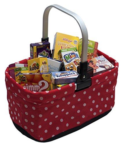 Preisvergleich Produktbild tanner 40913 - Moderner Einkaufskorb, gefüllt, Punkte, Vorschul Rollenspielzeug