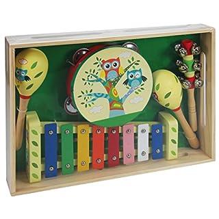 A B Gee lxs0167Holz Musical Instrument Set mit Eule Design