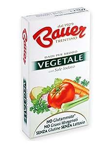 Bauer Dado per Brodo Vegetale 60 gr, Astuccio con 6 Dadi