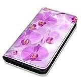Hülle Galaxy J1 2016 Hülle Samsung J1 J120 Schutzhülle Handyhülle Flip Cover Case Samsung Galaxy J1 2016 J120 (OM1024 Orchidee Lila Weiß Blume)