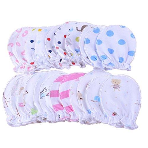 5pares recién nacido Baby Manoplas säugling Pastel arañazos algodón Manoplas 0–6meses