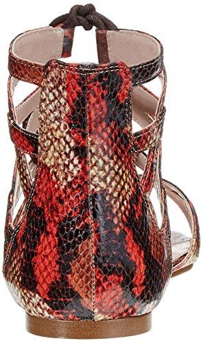 Cortefiel  SNAKE FLAT SANDAL, Sandales pour homme - rouge Rouge